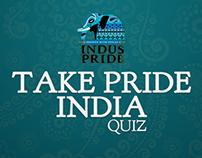 Indus Pride 'Take Pride India' quiz  FB Tab UX Design