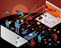 Robot vector illustrations