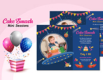 Cake Smash Mini Session Template