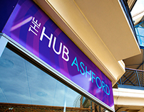The Hub Ashford branding & signage design