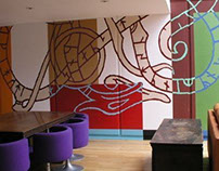 Clarence Hotel Mural - VIP Suite