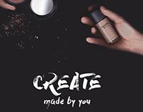 C R E A T E Y O U R S E L F - Makeup Branding