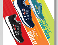 Poster Designs Sport Shoes Corporate look creative