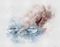 Touching water