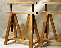 Pukkijalat pöytälevylle (trestle legs)