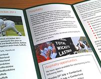 Norfolk County Cricket Club literature design