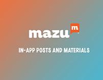 Mazu - Club App Posts and Materials
