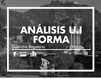 Análisis U.I Forma: Capricho Bogotano / ARQU-3830