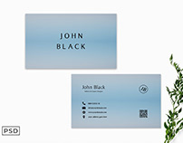 Free Blue Bussiness Card Template Display