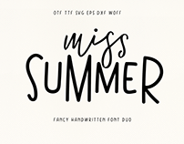 Miss Summer (Almost Free) Font Duo