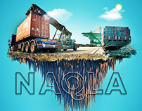 manipulation Design Background truck industry Naqla