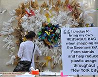 Plastic Bag Mandala Project