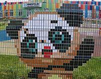 Pandas Pixel Art Installation