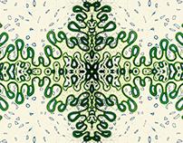 Random mess pattern.