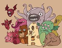 Monster vector illustrations