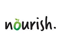 Nourish catering branding & menu design