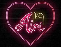 Neon signboard of Japanese female idol, Airi Suzuki.