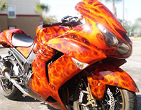 Custom Airbrush - Flames