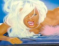 Custom Airbrush - Playboy Car