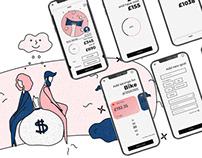 Upsave - mobile app design