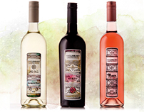 The Library Wines label illustration