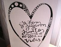L & R Wedding Postcard