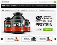 SNC Sports Nutrition E-Commerce Website