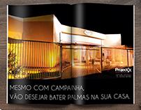 ProjectX Projetos Arquitetônicos - anúncio de revista