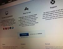 Landing page design - pdflip.js