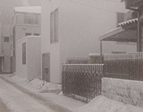 Moriyama house in the snowfall