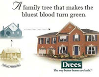 Anniversary direct mail for Drees Homes