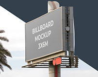 2 Giant Billboard Mockup Free
