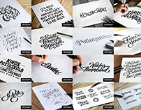 Lettering sketches 2015–2017 Volume I
