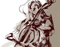 cello sketching