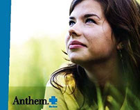 Lead generation brochure for Anthem Blue Cross