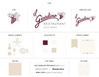Branding for iL Giardino Restaurant by John Gambino