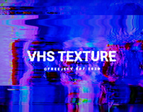 8 VHS Texture - Scanline Glitch Background