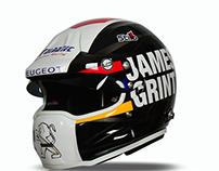 James Grint Cross WRC Helmet 2015