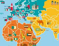 Mapa Mundi: Gecko Stickers