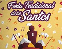 """Cartel """"Feria Tradicional De Los Santos"""" (Ecuador)"""
