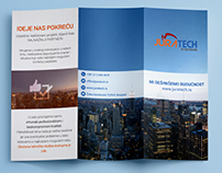 Tri fold brochure for software company Juratech Systems
