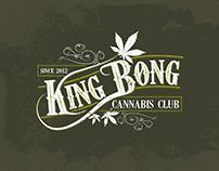 Retro Vintage LOGO design | KING BONG cannabis club