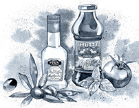 Illustration for online grocery store.