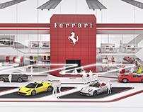 Ferrari expo stand concept 2017