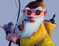 Sarhoş Balıkçı /// Drunk Fisherman - Character design