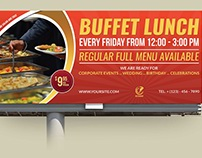 Restaurant Billboard Template Vol.6