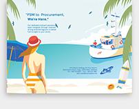 Fuel Supplies Maldives Illustrative Print Adverts