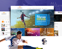 Zayed Sports City- Website design