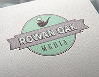 Rowan Oak Media Logo Design