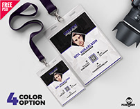 Photo Identity Card PSD Template Set